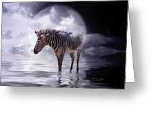 Wild In The Moonlight Greeting Card