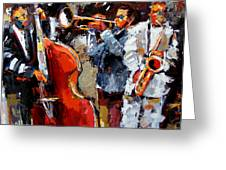 Wild Jazz Greeting Card