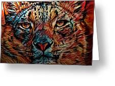 Wild Leopard Greeting Card