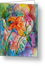 Wild Lily Greeting Card