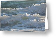 Wild Mediterranean Waves Greeting Card