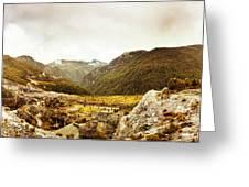Wild Mountain Terrain Greeting Card