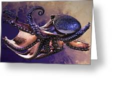 Wild Octopus Greeting Card