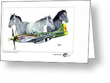Wild Ponys Greeting Card by Trenton Hill