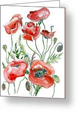 Wild Poppies Greeting Card