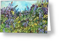 Wild Prairie Lupine Greeting Card