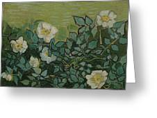 Wild Roses Saint-remy-de-provence, May-june 1889 Vincent Van Gogh 1853 - 1890 Greeting Card
