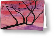 Wild Sky And Tree Greeting Card