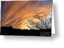 Wild Sky Of Autumn Greeting Card