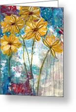 Wild Sunflowers- Art By Linda Woods Greeting Card