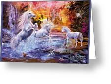 Wild Unicorns Greeting Card