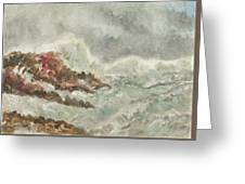 Wild   Waves Greeting Card