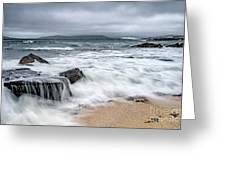 Wild Weather At Geodha Mhartainn On The Isle Of Harris Greeting Card