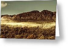 Wild West Mountain Panorama Greeting Card