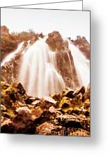 Wild West Water Fall Greeting Card