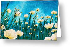 Poppies In The Blue Sky Greeting Card