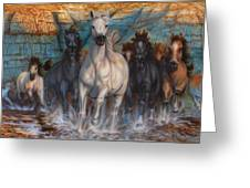 Wild, Wild Horses Greeting Card