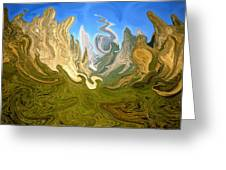 Wild Yosemite - Abstract Modern Art Greeting Card