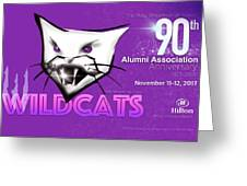 Wildcat 90 Logo Semi Comp4 Greeting Card