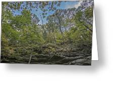 Wildcat Den Cliffs And Trees In Fall Greeting Card