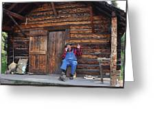 Wilderness Cabin Alaska Greeting Card