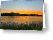 Wilderness Point Sunset Panorama Greeting Card