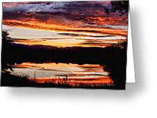 Wildfire Sunset Reflection Image 28 Greeting Card