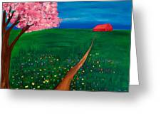 Wildflower Country Road Greeting Card