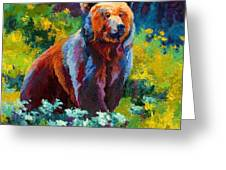 Wildflower Grizz Greeting Card