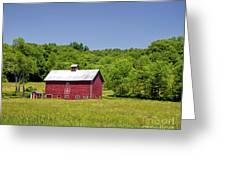 Wildflowers Barn Greeting Card