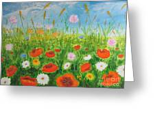 Wildflowers Field Greeting Card