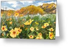 Wildflowers In The Desert Greeting Card