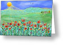 Wildflowers In The Sun Greeting Card