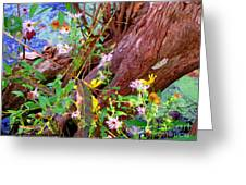 Wildflowers On A Cypress Knee Greeting Card