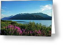 Wildflowers On The Edge Greeting Card