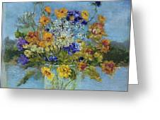 Wildflowers On The Lake Greeting Card