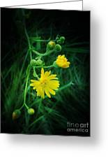 Wildly Yellow Greeting Card