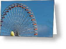 Wildwood Ferris Wheel Greeting Card by Jennifer Ancker