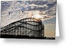 Wildwood Roller Coaster Greeting Card