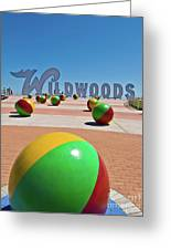Wildwood's Sign, Wildwood, Nj Boardwalk . Copyright Aladdin Color Inc. Greeting Card