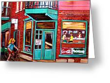 Wilenskys Cafe On Fairmount In Montreal Greeting Card