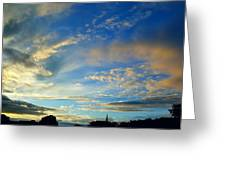 Wilkes Barre Sunset Two Greeting Card