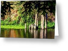 Willamette River Reflections 3783 Greeting Card