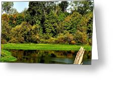 Willamette River Reflections 3813 Greeting Card