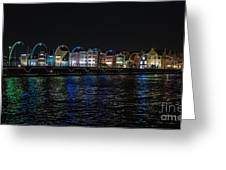 Willemstad Curacao At Night Greeting Card