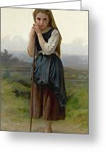 William Bouguereau 1825-1905 French Petite Bergere Greeting Card