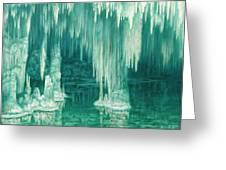 William Degouve De Nuncques 1867 - 1935 Belgian La Grotte Du Drac, Manacor Greeting Card