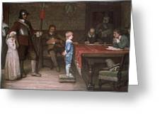 William Frederick Yeames - And When Did You Last See Your Father 1878 Greeting Card