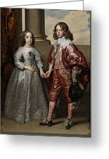 William II, Prince Of Orange, And His Bride, Mary Stuart Greeting Card