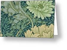 William Morris Wallpaper Sample With Chrysanthemum Greeting Card
